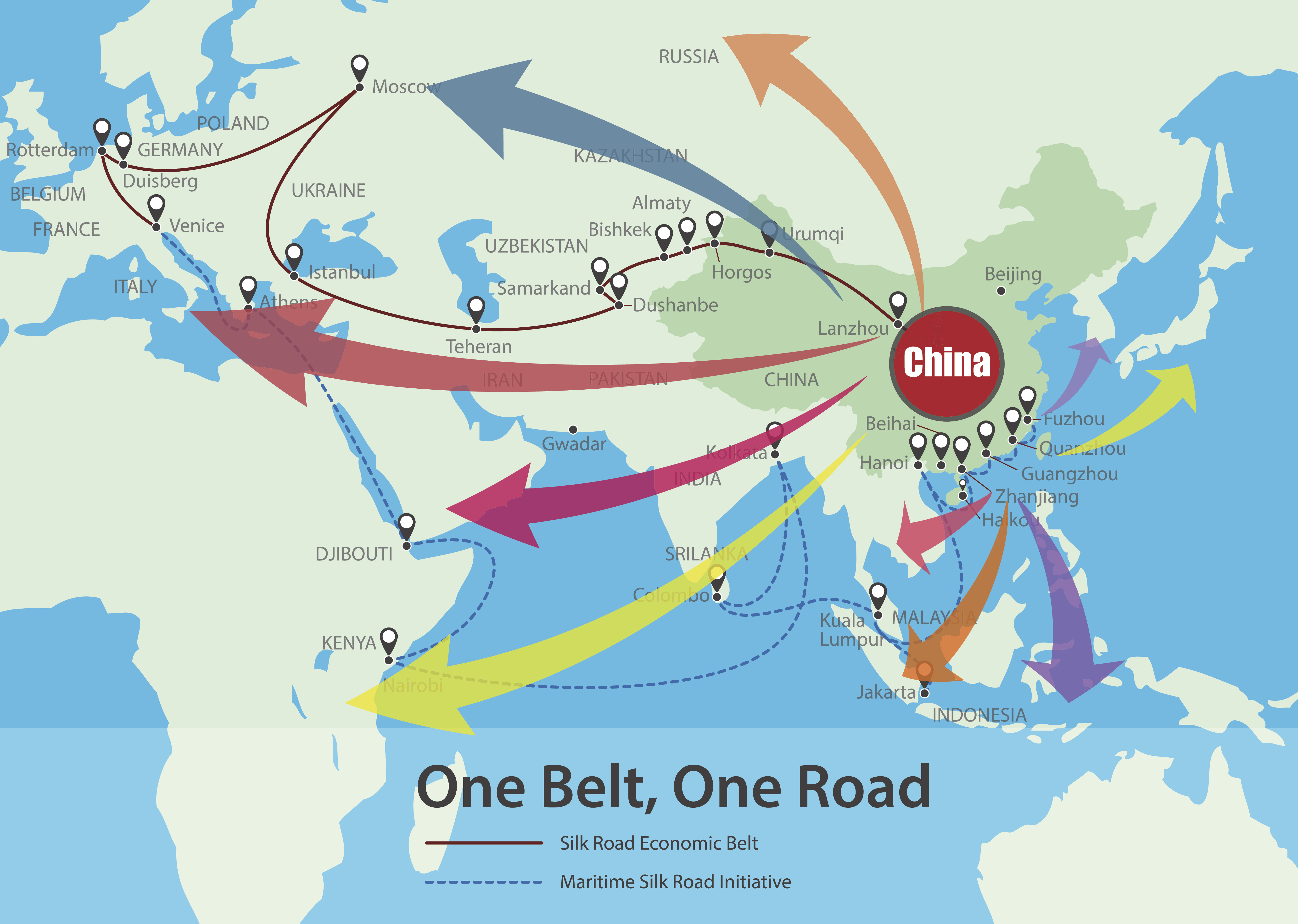 One Belt, One Road, Chinese strategic investment in the 21st century on