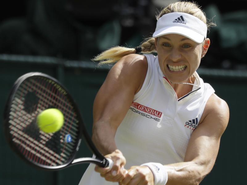 Die Deutsche Tennisspielerin Angelique Kerber Spielt Um Den Einzug