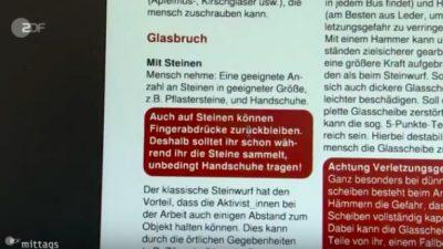 """Zuschauerin empört: ZDF gibt """"Beihilfe zum Linksterrorismus"""""""