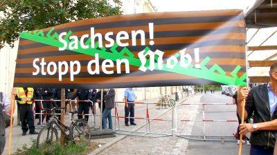 """""""Sachsen. Stopp den Mob"""" – das forderten 1000 Demonstranten in Berlin-Neukölln"""