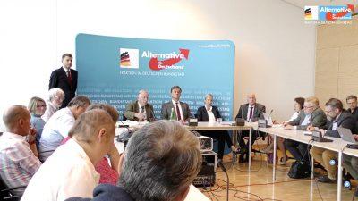 Pressekonferenz der AfD-Fraktion im Bundestag mit Weidel und Gauland