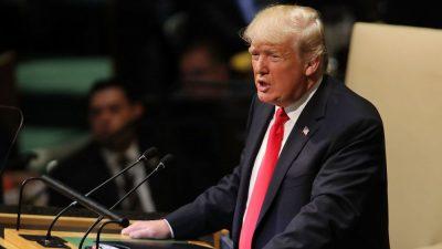 """Donald Trump vor der UNO: """"Amerika wird seine Souveränität nie einer globalen Bürokratie opfern"""" + Video"""