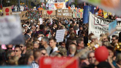 """Mit Gewalt und Judenhass gegen Hass und Hetze – Welche """"Zivilgesellschaft"""" bei #unteilbar unterwegs war"""
