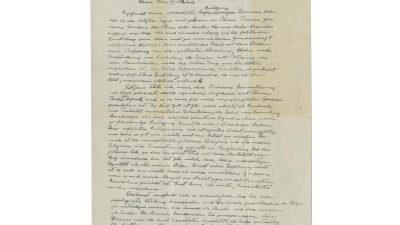 Einstein-Brief hat Aussichten auf Millionen bei Auktion