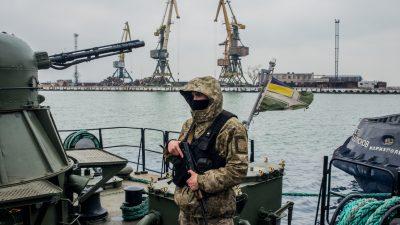 Nato fordert freie Durchfahrt zu ukrainischen Häfen am Asowschen Meer