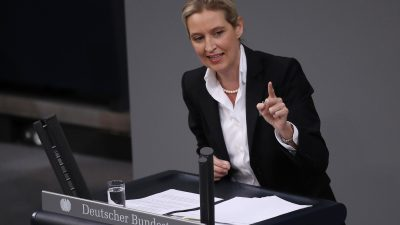 """""""Rassismus"""": May-Kritiker teilt Bundestagsrede von Alice Weidel und wird heftig kritisiert"""