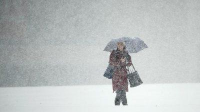 Wetterdienst warnt vor Schneefällen und Glatteis