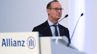 Allianz-Chef warnt vor Pleiten von Lebensversicherern