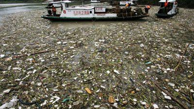 Studie: Durch Chinas Jangtse-Fluss gelangt am meisten Plastik ins Meer