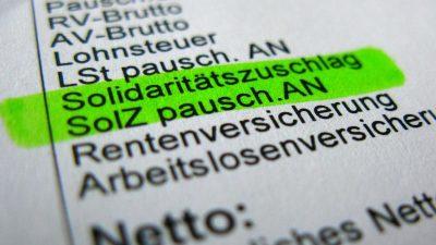 FDP: Können Soliabbau mit der Union sofort beschließen