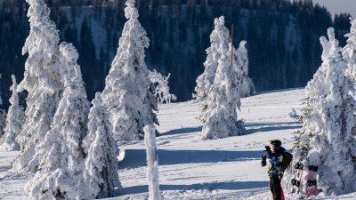 Chancen auf weiße Weihnachten im Bergland steigen