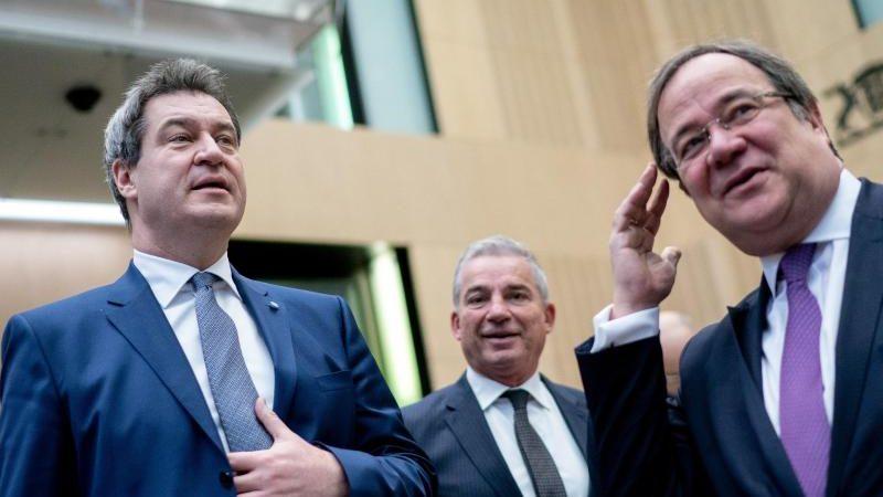 Laschet und Söder versprechen Wirtschaft bei Wahlsieg Steuersenkungen