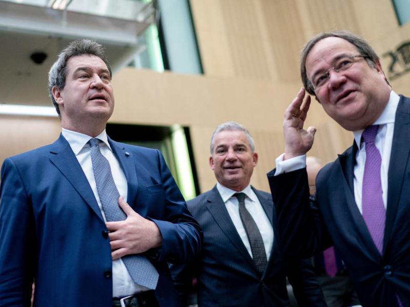 Pressestatement nach CDU/CSU-Klausurtagung mit Laschet und Söder
