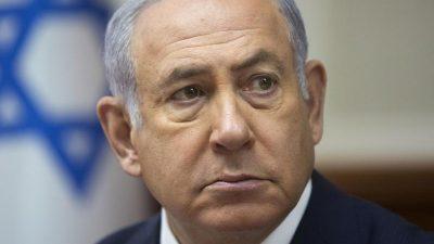 Israels Ministerpräsident erwartet eine Klage wegen Vorteilsnahme und Korruption in drei Punkten