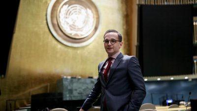 Maas: Dürfen uns im UN-Sicherheitsrat nicht wegducken