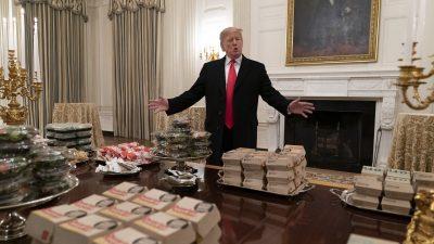 Trump gibt einen aus: Fast Food für Football-Team