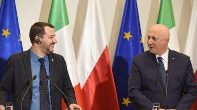 Salvini in Warschau: Italiens Lega und Polens PiS vor künftigem Bündnis im Europaparlament?