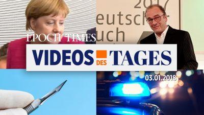 """Videos des Tages: Bürgerwehren patrouillieren in Amberg, Merkels """"Toleranz"""" und """"Offenheit"""" 2018 & 2019 und mehr"""