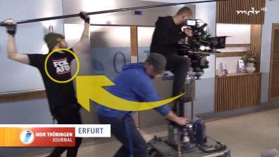 Anti-AfD-T-Shirt bei MDR-Sendung zu sehen – Sender verteidigt Mitarbeiter