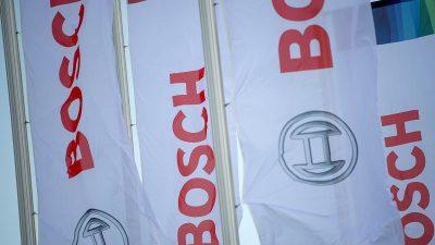 Schwächelnde Autokonjunktur bremst Zulieferer Bosch