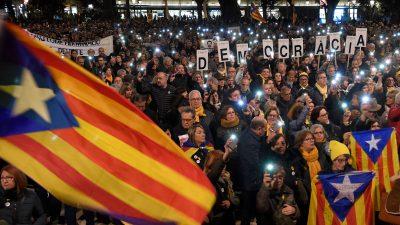 500.000 Menschen in Barcelona fordern Freiheit für Unabhängigkeitsführer