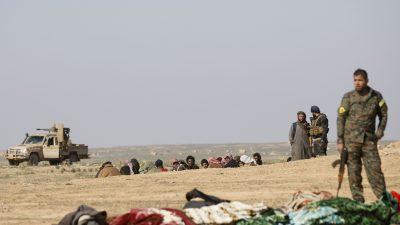 Kurdisch-arabische Milizen fordern die westlichen Länder auf ihre IS-Kämpfer zurückzuholen