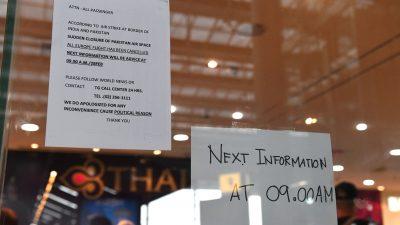 Flughafen von Bangkok –  Thai Airways: Alle Flüge nach London, Paris, Brüssel, Mailand und München gestrichen