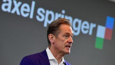 """Springer-CEO Döpfner warnt vor """"Herdenjournalismus"""" und """"Intoleranz gegenüber Freidenkern"""""""