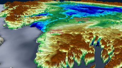Gigantischer Meteoritenkrater unter Grönlandeis entdeckt