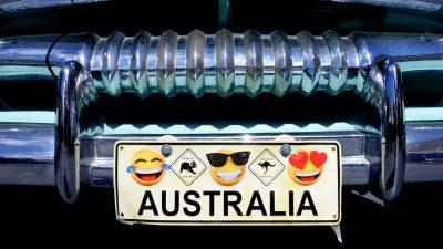 Australien lässt Emoji-Symbole auf Auto-Nummernschildern zu