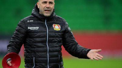 Bosz sieht in Krasnodar «minimalen» Vorteil für Leverkusen