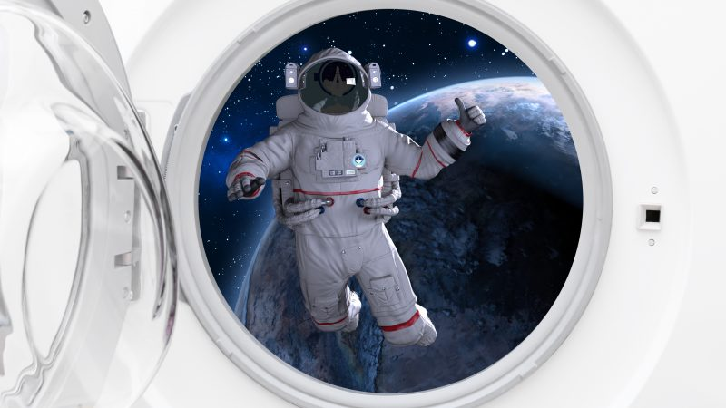 Weltraum-Waschmashine