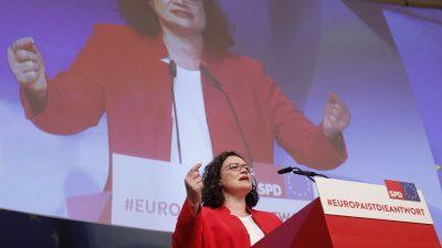 """SPD-Parteikonvent: Nahles ruft zum Kampf gegen """"Hetzer"""" und """"Laue"""" in Europa"""