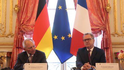Bundestagspräsident Schäuble unterzeichnet Parlamentsabkommen mit Frankreich