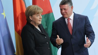 Merkel würdigt Einsatz Jordaniens für syrische Flüchtlinge