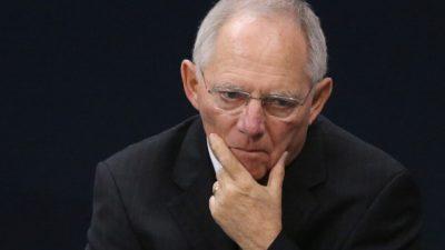 Schäuble: AfD-Wähler müssen ernst genommen werden