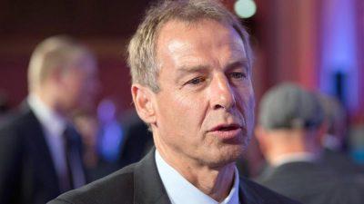 Klinsmann: Lage um Nationalmannschaft ist «ein Pulverfass»