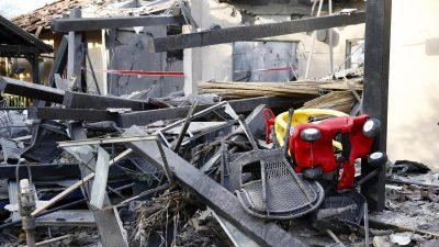 Israel: Plötzlicher Raketenangriff auf Haus nordöstlich von Tel Aviv – Sieben Menschen verletzt