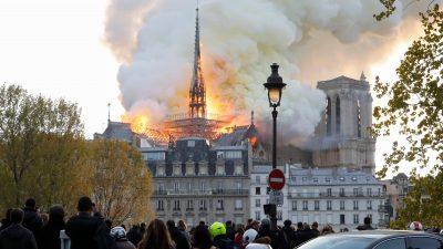Frankreich: Macron stimmt historischem Wiederaufbau von Notre-Dame zu