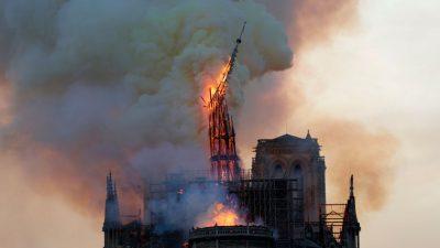 300 Tonnen hochgiftiges Blei bei Brand in Notre Dame geschmolzen: Warnung vor Boden in direkter Umgebung