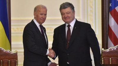 Der ehemalige US-Vize-Präsident Joe Biden und die Ukraine – Illegale Einflussnahme auf die US-Wahl 2016