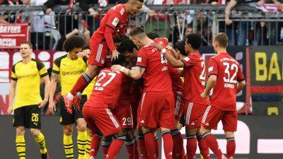 FC Bayern siegt mit meisterlicher Gala: 5:0 gegen Borussia Dortmund