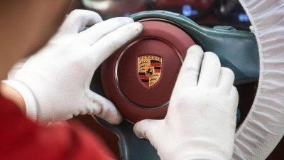 Sportwagenbauer Porsche liefert deutlich weniger Autos an die Kunden