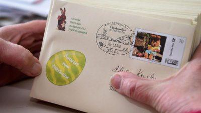 Post für den Osterhasen: 40.560 Kinder schrieben einen Brief nach Ostereistedt