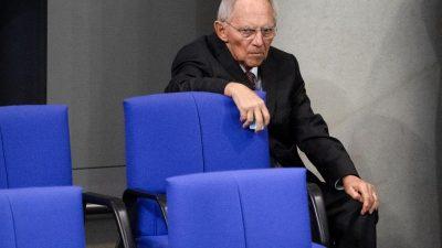 XXL-Bundestag: Schäuble hält an Wahlrechtsreform fest – doch es herrscht Widerstand