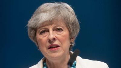 """Brexit-Deal: May will britischem Parlament """"kühnes Angebot"""" vorstellen"""