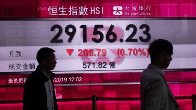 Investoren ziehen in hohem Tempo ihr Kapital aus dem chinesischen Aktienmarkt zurück
