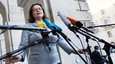 """SPD-Chefin Nahles distanziert sich: Juso-Chef Kühnert gibt """"falsche"""" Antworten auf richtige Fragen"""