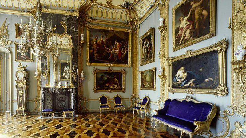 """Die Blaue Kammer in der Königswohnung des """"Alten Fritz"""" im Neuen Palais"""