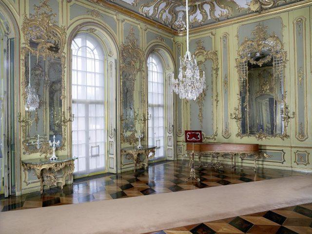 Blick in das Konzertzimmer der Königswohnung im Neuen Palais.
